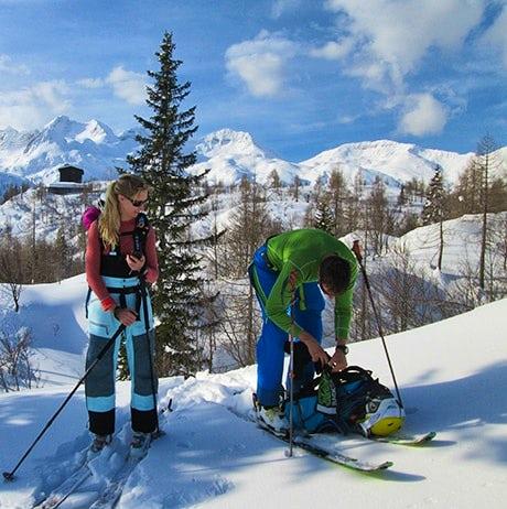 Backcountry skiing in Slovenia