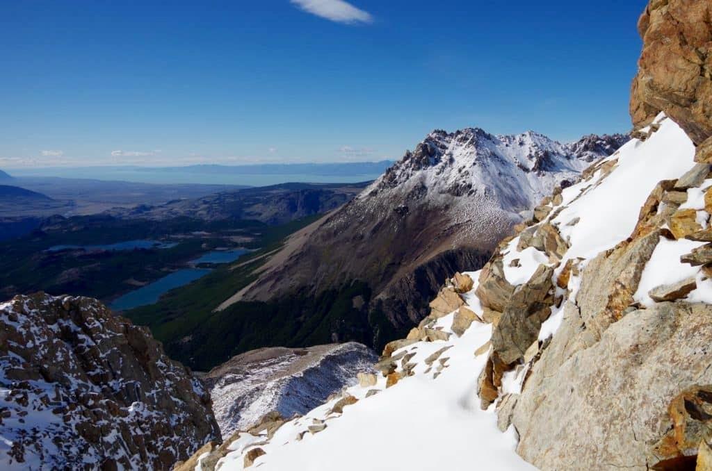 Views during Cerro Madsen ascent
