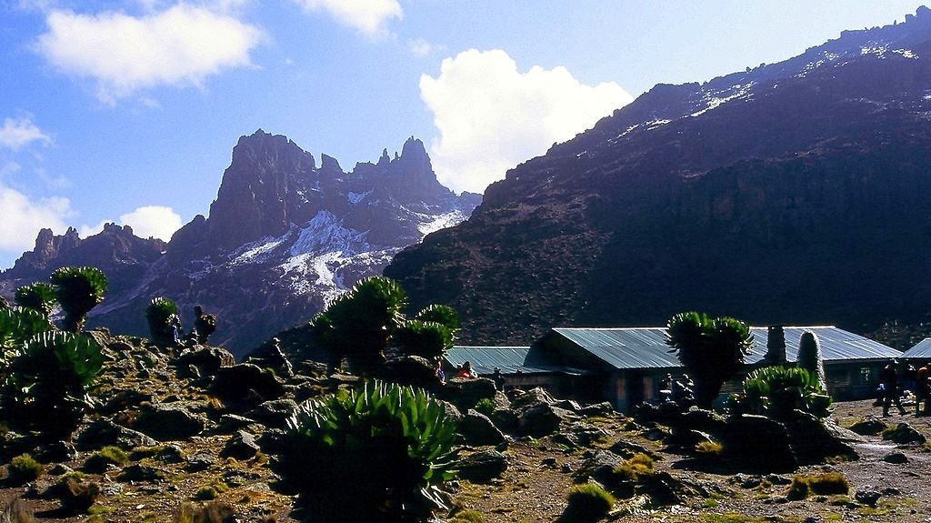 Mt. Kenya, their objective in 2013