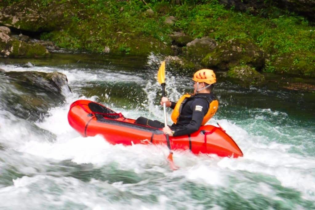 Facing white waters in Tonegawa river