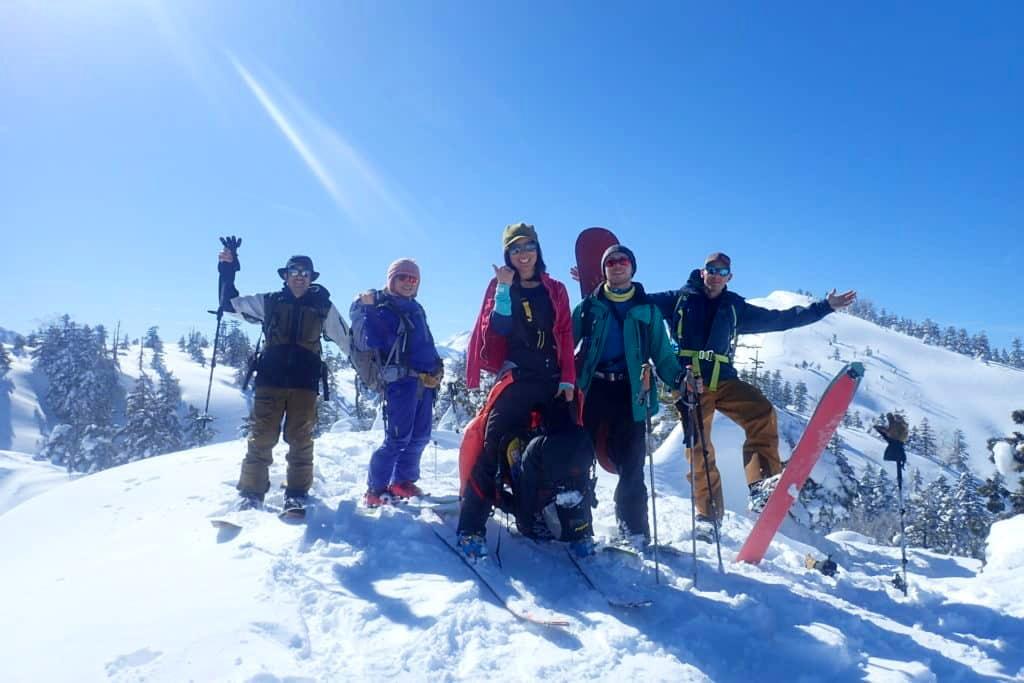 Shirakawago bakcountry skiing