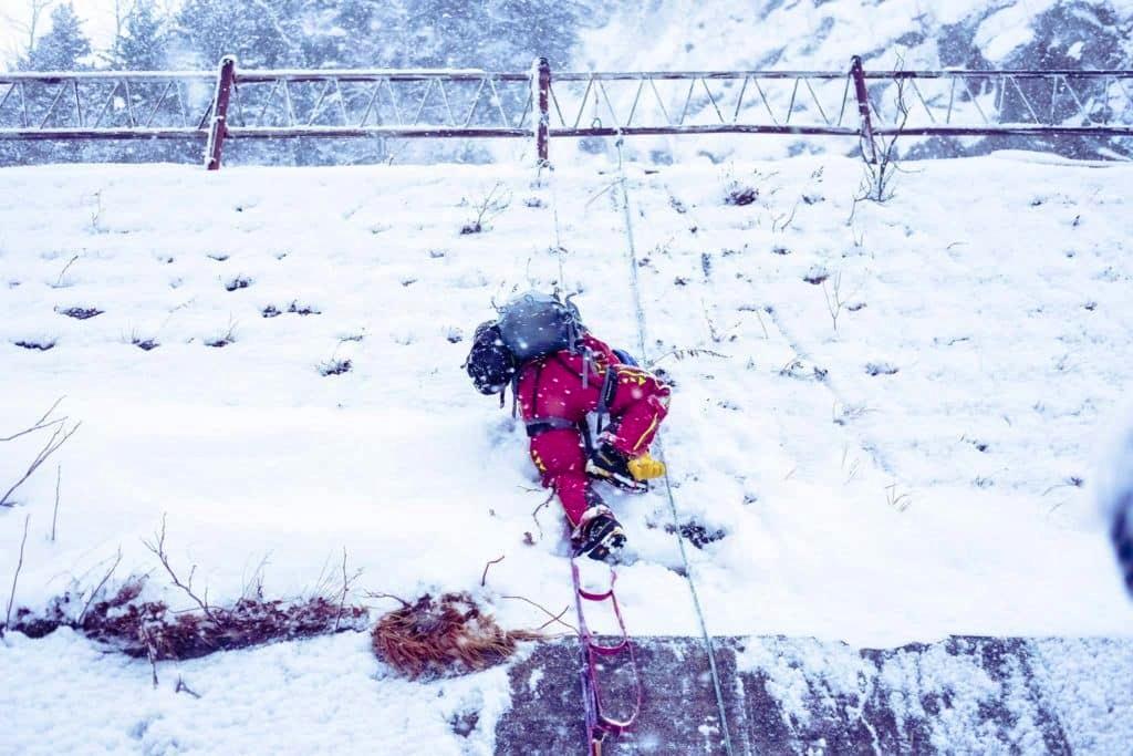 Ice climbing in Japan
