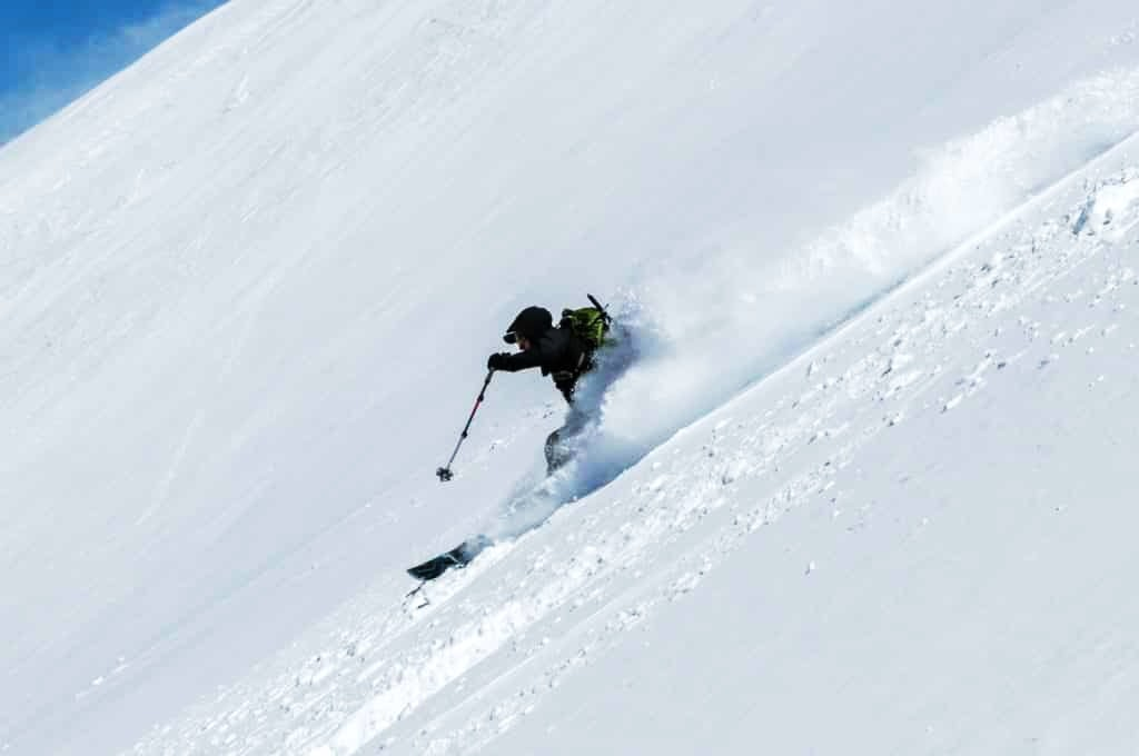 Great snow conditions on the Chilean Volcanoes