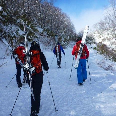 Hakuba skiing lines