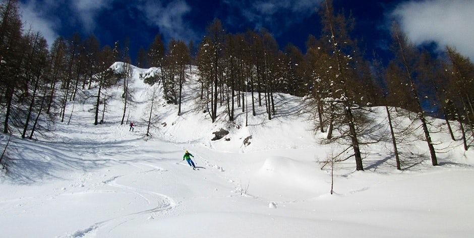 Backcountry ski tour in Slovenia