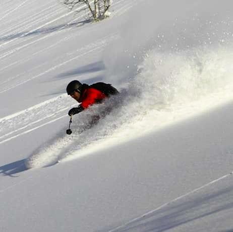 Off-piste skiing in Japan