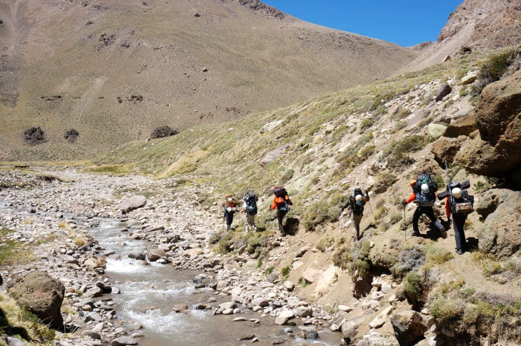 Approach to Base Camp on Day 1