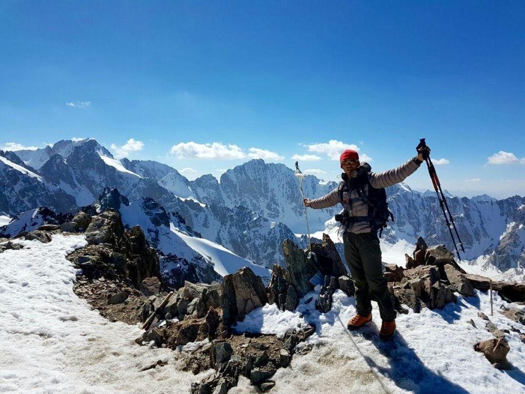 Climber in Kyrgyzstan