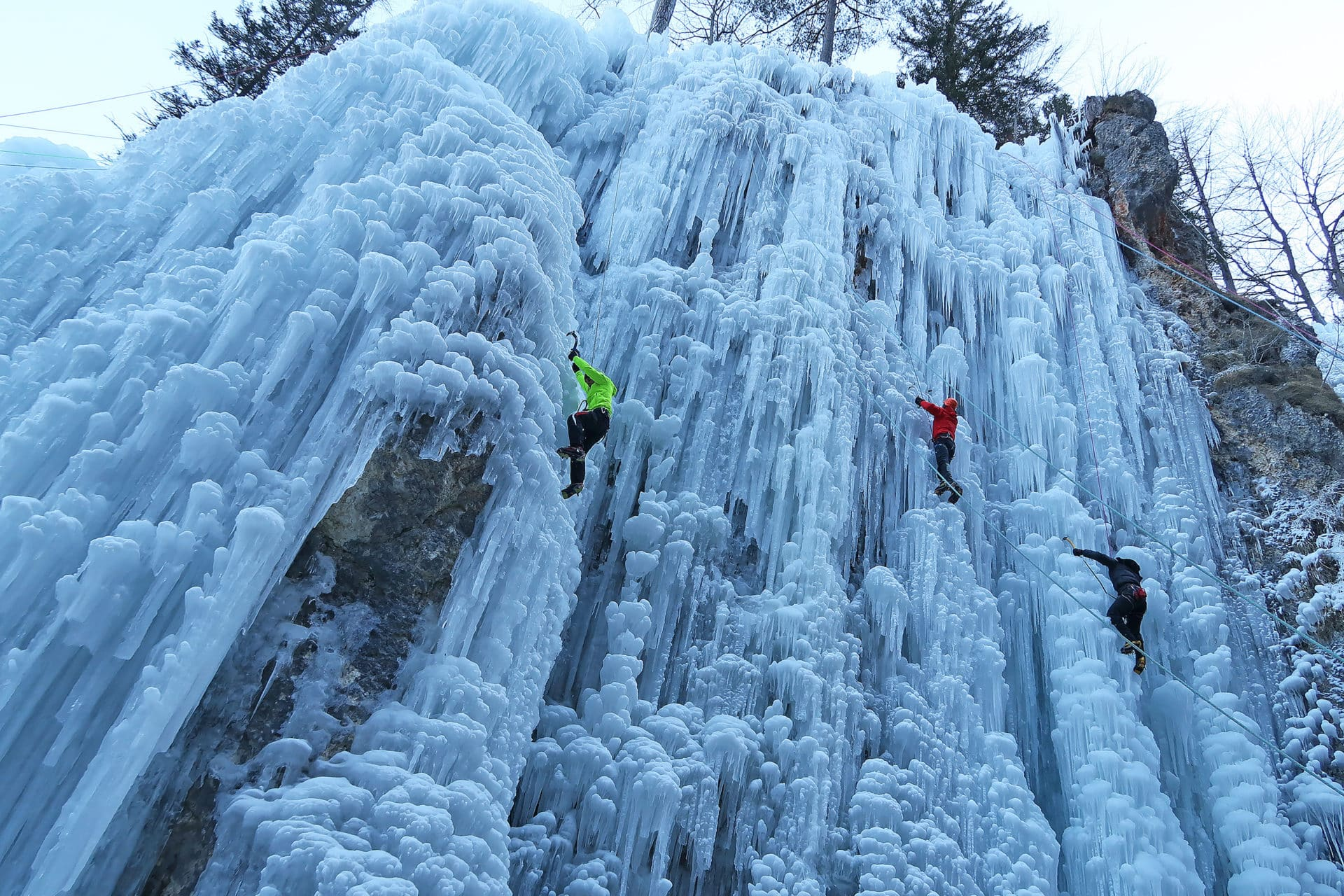 Ice Climbing Day Trip in Mojstrana, Triglav National Park. Ice Climbing  trip. IFMGA leader