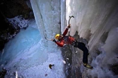 Types of climbing: ice climbing