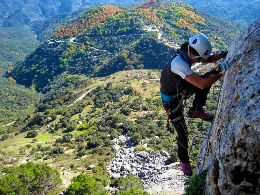 Types of climbing: via ferrata