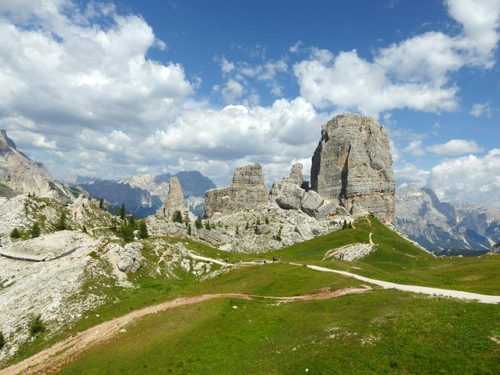Rock climbing in the Dolomites