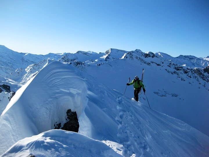 Freeride skiing in Val d'Isere and Tignes
