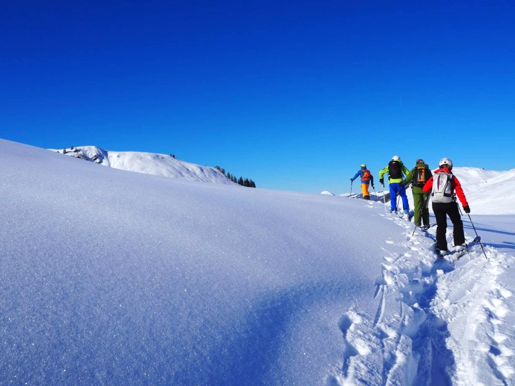 Freeride skiing in the Kitzbuhel Alps, Austria