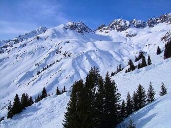Freeride Skiing in Solded, Austria