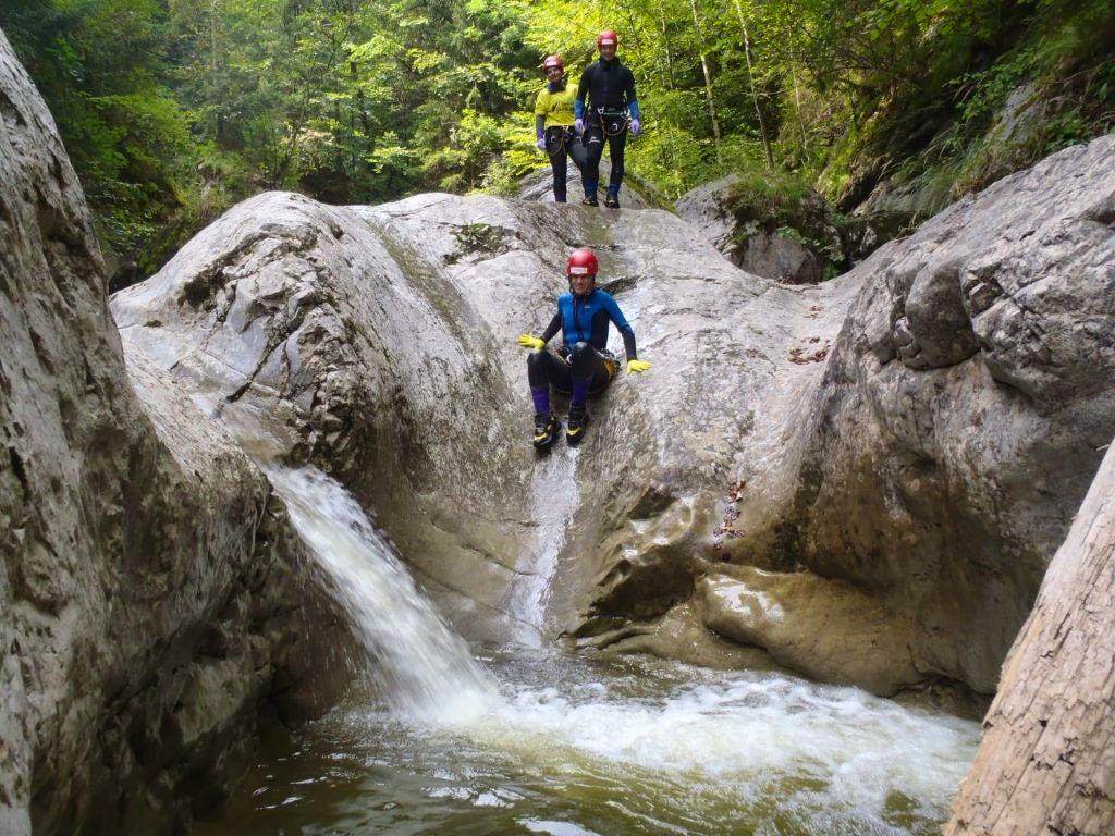 Canyoning near Zurich, Switzerland