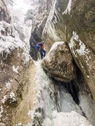 Ice climbing near Zurich, Switzerland