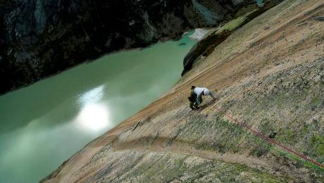 Rock climbing near Zurich, Switzerland