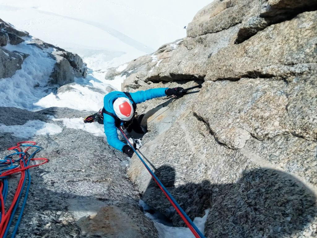 Training to climb Matterhorn north face