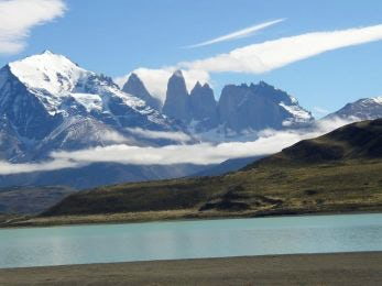 Torres del Paine from a distance.