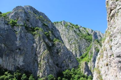 Rock climbing in Romania