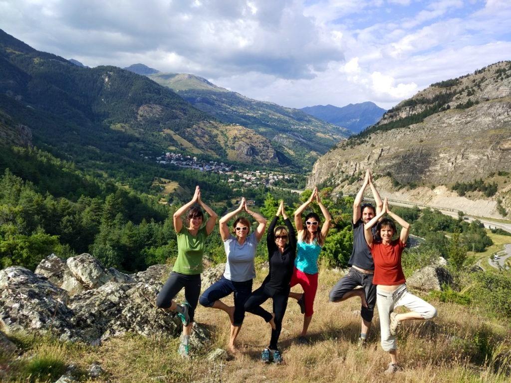Hiking and yoga
